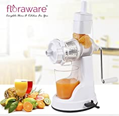 Floraware Plastic Fruit and Vegetable Juicer with Vacuum Locking System