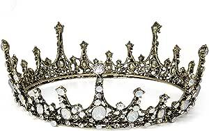 Czemo Tiara di Sposa Principessa Corona di Barocca con Strass Accessori per Capelli per la Cerimonia Nuziale