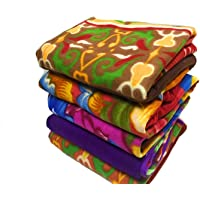 Shivaan Home Furnishing Multipurpose Polar Fleece Single Printed Bed Fleece Blanket (Set of 5)-Assorted Multicolor(Light…