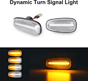 Dynamische Blinkleuchte Oz Lampe Seitenmarkierung Fließende Seitenmarkierungen Klar Für O Pel Zafira A Astra G Auto