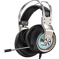 Mpow PRO - Cuffie da gioco (2019 All-Platform Edition), con microfono, driver altoparlanti da 50 mm, suono surround 3D…