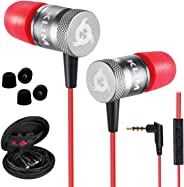 KLIM™ Fusion - In Ear Headphones with Mic + Excellent Audio Quality + Long-lasting Ear Buds + 5 years Warranty + Wired Headph