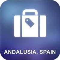 Andalusien, Spanien Karte