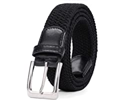 Braided Elastic Belt Woven Canvas Stretch Belts for Men/Women/Junior by WERFORU