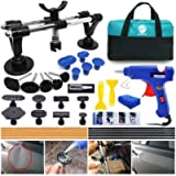 Randalfy Car Dent Puller - Auto Body Repair Tool Kit with Double Pole Bridge Dent Puller and Dent Puller Tabs for Car…
