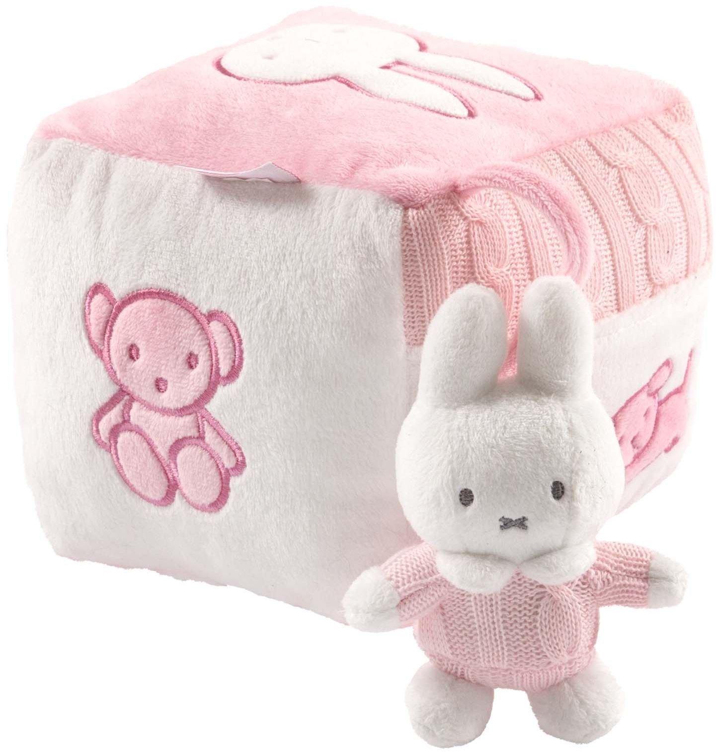 Tiamo NIJN214 - Nijntje Baby Spielzeug Würfel, rosa
