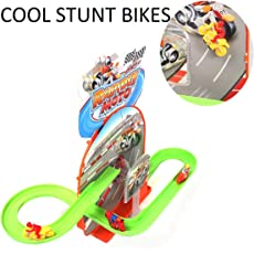 MousePotato Bike Track Racer Magical Bikes Flying Through Tracks with Rotating 3D Lights & Sound (Bikes)