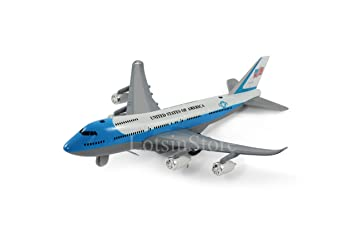 Diecast model airplane metal toy aeroplane jumbo jet toy aircraft pull back  lights sounds (BLUE/WHITE)