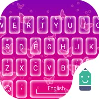 Neon Butterfly Theme&Emoji Keyboard