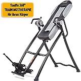 SKANDIKA Parantaja - Table d'inversion Pliante pour Exercices du Dos (5 Positions, Rembourrage Mousse, 150kg) - Gris/Noir