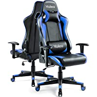 Gaming Stuhl YOLEO Bürostuhl Gamer Ergonomischer Stuhl Einstellbare Armlehne Einteiliger Stahlrahmen Einstellbarer…