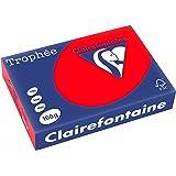 Clairefontaine Trophée 1004 Ramette de 250 feuilles papier 160 g Format A4 Rouge