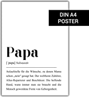 Papa Definition: DIN A4 Poster