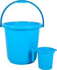 Regalo Unbreakable Plastic Bucket With Mug (16ltr)Peacock Blue