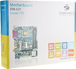 Zebronics Motherboard ZEB-G31 Socket 775+Zebronics Cpu Cooling Fan+Intel Core 2 Duo E7500 Processor 2.93 GHz 3 MB Cache+2GB DDR2 Desktop Ram