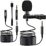 Microphone Cravate Jack Type C rallonge Offerte Smartphone | Micro Cravate lavalier omnidirectionnel 1,5m + 2 m | Camera Vlog