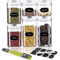 SAWAKE Lot de 6 boîtes de Conservation Alimentaires avec Couvercle hermétique en Plastique, Transparent Hermétique…
