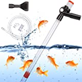 ECOSI Limpiador de Grava para Acuario,Multifuncional Cambiadores de Agua para acuarios Limpiador de peceras para Cambio de Ag