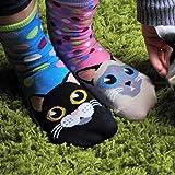 6 chaussettes pour femmes Oddsocks à motif de chat Catwalk par United Oddsocks