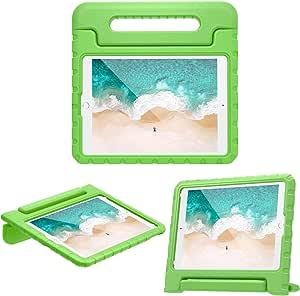 """MoKo Cover per Nuovo iPad 10.2"""" 2019 / iPad Air 3rd Gen 10.5"""" 2019 / iPad Pro 10.5 Pollici 2017 - Custodia Protettiva Antiurto con Supporto Maniglia per Bambini, Verde"""
