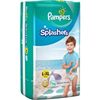 Pampers: Splashers Pant Style bBaby Swim Diapers for Swimming (Large to X-Large) (Pack of 10 Diapers)