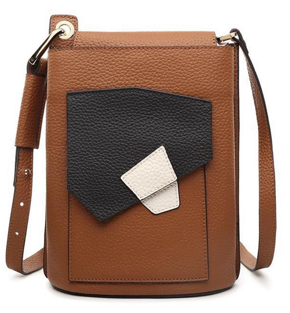 Xinmaoyuan Borse donna vera pelle Lady cucitura di sacchetti di piccole tasche benna spalla borsa M