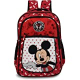 Priority Disney Mickey Mouse 25 litres Red Polyester School Bag | Casual Bags | for Boys, Girls, Kids Backpack