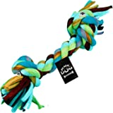 BLACK DOG Chew Rope Toys for Small Medium Puppies and Dogs, Cotton Dumbbell Toys,10 inch (Color May Vary)
