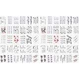 2 Sets Alphabet Geometry Stickers Cartoon Temporary Tattoos Decorative Sticker