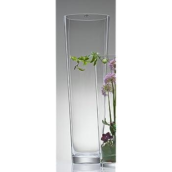 2x Konische Glasvase Vase Glas Blumenvase Bodenvase Gross 70 Cm