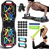 Jeteven Push Up Board, Push Up Rack Board Pieghevole e Multifunzione Attrezzature per Fitness per Allenamento Muscolare, per