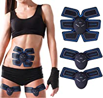 Elettrostimolatore Muscolare, EMS Stimolatore Muscolare con Cinghie di Supporto, Addome/Gamba/Braccio Muscolo Esercizio...