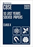 10 Last Years Solved Papers: CBSE Class 10 for 2020 Examination (Old Edition)
