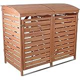Profiwelten Mülltonnenverkleidung Holz Mülltonnenbox für 2 Mülltonnen 240l Müllcontainer