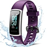 FITFORT Fitnessarmband met hartslagmeter, IP68 waterdicht, fitnesstracker, smartwatch, stappenteller, slaapmonitor, zitherinn