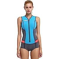Cressi Women's Idra Neoprene Swimsuit 2mm, Light Blue, XL/5