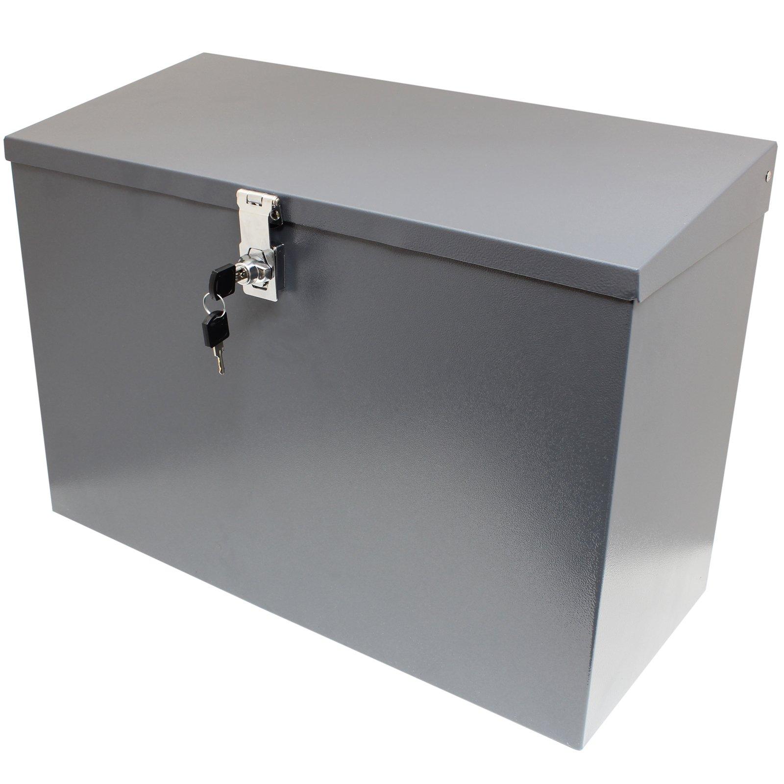 Hardcastle – Abschließbare Paketbox aus Metall – Groß – Grau