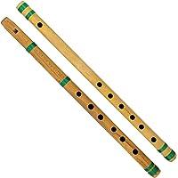 ShalinIndia Indian Bamboo Flute Bansuri, Set of 2, Fipple & Transverse, For Kids