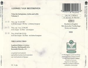 Beethoven: The Piano Trios, Vol. 3- Op. 11 / Op. 1, No. 2 / WoO. 38