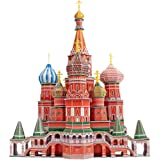 CubicFun 3D Cathedral Puzzles Russia Architecture Building Church Model Kits Toys for Adults, St.Basil's Cathedral, 184 Piece