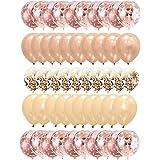 Gxhong Palloncini Oro Rosa Champagne Oro Palloncini in Lattice, 50 Pezzi Palloncini coriandoli /Palloncini Elio /Matrimonio P