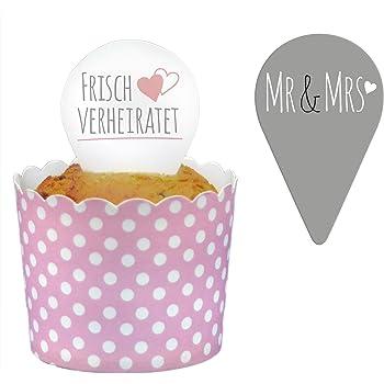 Frau Wundervoll 24 Topper Kuchenstecker Hochzeit Kuchenaufsatz