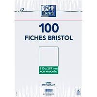 Oxford100 Fiches Bristol Blanches A4 (21 x 29,7 cm)