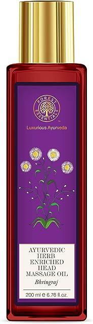 Forest Essentials Ayurvedic Bhring Raj Herb Enriched Head Massage Oil, 200ml