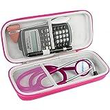Khanka EVA Borsa da viaggio Custodia caso scatola per 3M Littmann Classic Stetoscopio (Rosa rossa)