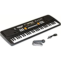 ToyZila 61 Keys LED Display Piano Keyboard Toy with Recording, Mic and Mobile Charger Power Option
