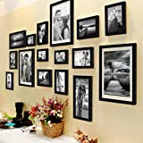 Art Street Shooting Star Photo Frame Set of 16 Individual Photo Frames with Hanging Accessories (3 Units of 8x10, 4 Units of