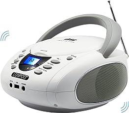 LONPOO LP-D001 CD Lettore protable CD Boombox Radio FM / USB / Bluetooth / Ingresso AUX e uscita jack per cuffie con audio stereo Altoparlante Audio Player