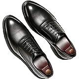 Scarpe Formali da Uomo Scarpe Oxford Classiche in Tinta Unita Scarpe Eleganti in Pelle da Lavoro con Lacci e Punta a Punta Le