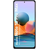 Redmi Note 10 Pro Max (Glacial Blue, 6GB RAM, 128GB Storage) -108MP Quad Camera|120Hz Super Amoled Display |ICICI…